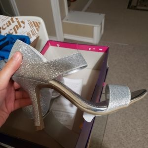 Shoes - NWT Sparkly Silver Heels